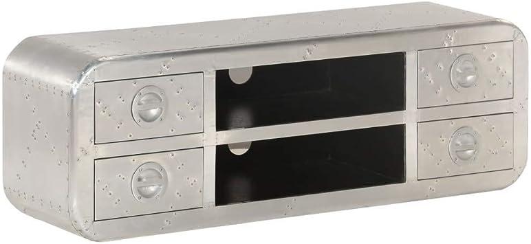 vidaXL Mueble para la TV Vintage Estilo Aviador 120x30x40cm ...