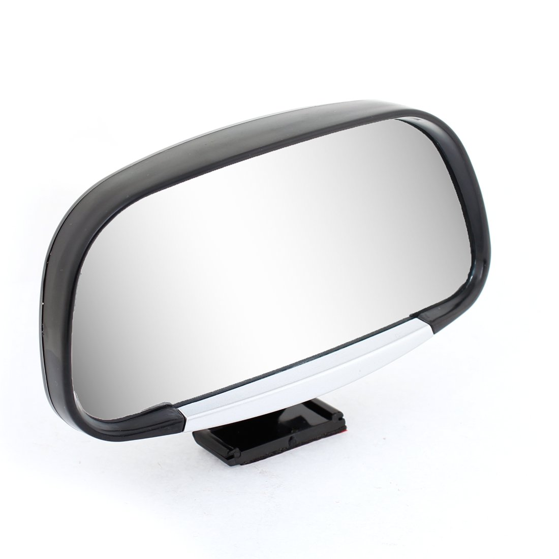 uxcell® 120mm x 60mm Universal Car Adhesive Rear View Blind Spot Mirror Black
