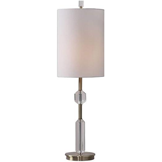 Amazon.com: Lámpara de mesa con 1 lámpara de techo de latón ...