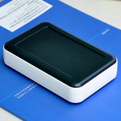 Price comparison product image Electronics-Salon HQ Hand-Held Project Enclosure Box Case,Black-White, 126 x 81 x 30mm.