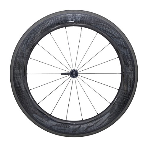 808 Wheel Zipp Front (Zipp 808 NSW Carbon Clincher Road Wheel Black, Front)