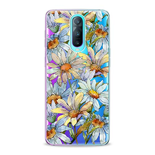 Lex Altern Oppo TPU Case R17 Realme 2 Pro 1 R15 F7 F9 K1 A7x A5 A3s Watercolor Daisies Bloom Flower Clear Cover Floral Print Protective Pattern Girl Design Women ()