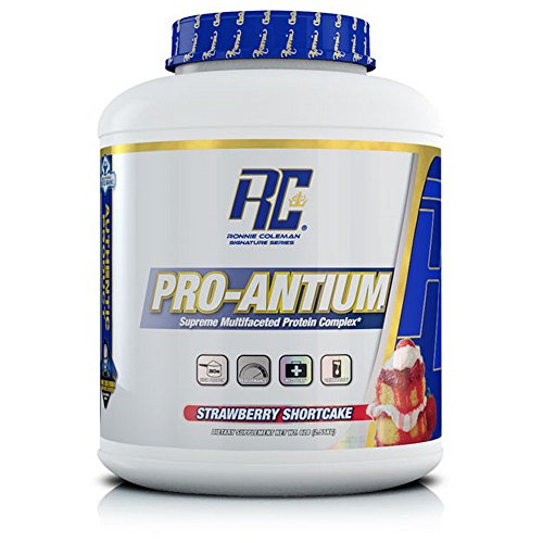 (Ronnie Coleman Signature Series Pro-Antium, Great Tasting Supreme Multifaceted Protein Powder, Strawberry Shortcake, 5.6 Pound)