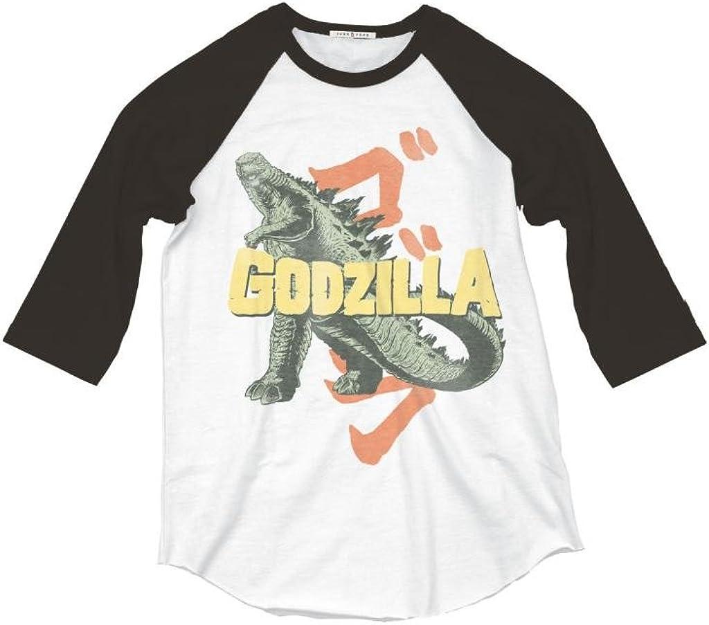 Junk Food Godzilla Adult Raglan T-Shirt