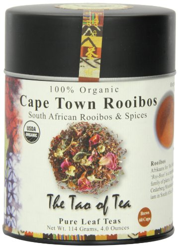 The Tao of Tea, Cape Town Rooibos Tea, Loose Leaf, 4-Ounce Tins (Pack of 3)