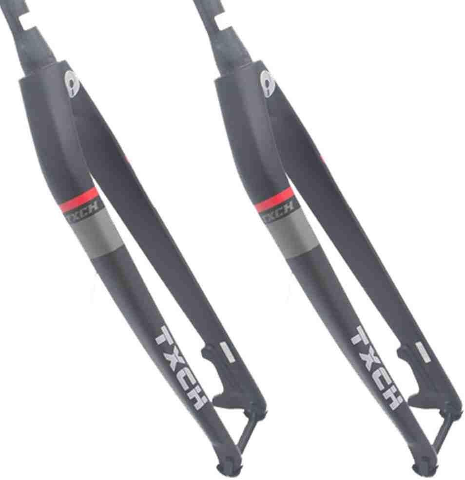 "Tapered Tube MTB Bicycle Fork Carbon Fiber 26//27.5//29er Wheels 1-1//8/"" Straight"