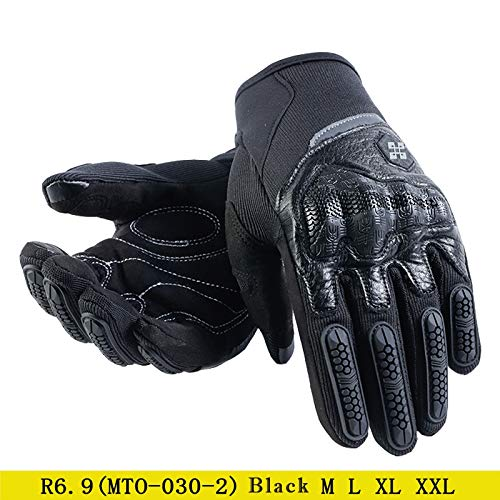 ZeHui Moto Motocross Gloves Men Women Off-Road Motorbike Full Finger Touch Screen Gloves black XXL