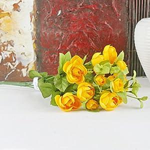 HOBULL Artificial Flower Camellia Flower Silk Florals Bouquet for Home Decor Party Floral Centerpieces Decoration 85