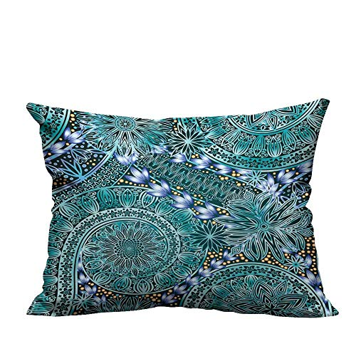(alsohome Home DecorCushion Covers Vintage Floral Motif Ethnic Seamless Background Abstract lace Pattern Hand Drawing Wallpaper. Decorative for Kids Adults 19.5x54 inch(Double-Sided Printing))