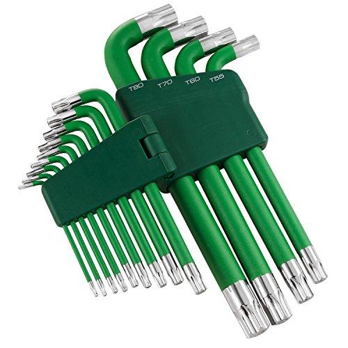 Powerbuilt 13 Piece Jumbo Long Arm Torx Star Key Wrench Set, T10 to T80-941643