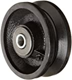 RWM Casters Cast Iron V-Groove Wheel with Straight Roller Bearing