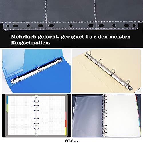 Koogel Leere Sammelalbum, 540 Pockets Hülle Sammelkarten 60 Seiten Transparent Sammelkarten Folien für eine Vielzahl von Ringbücher