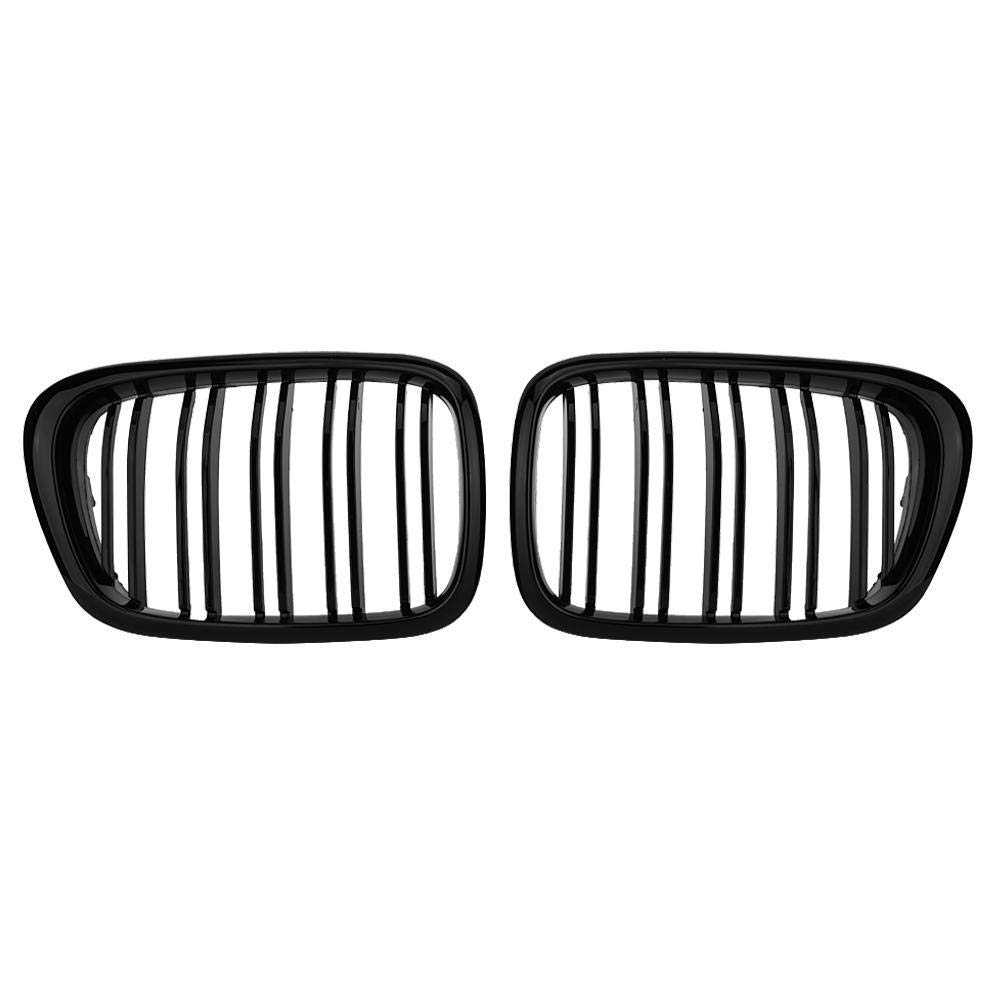 E39 5 Series Black M5 Grilles1999-2003 Gloss Black Front Bumper Hood Kidney Grille Grill