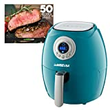 GoWISE USA GR33-FL01 2.75-Quart Air Fryer + 50 Recipes for your Air Fryer Book (Teal)