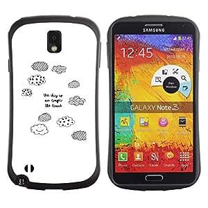 "Pulsar iFace Series Tpu silicona Carcasa Funda Case para Samsung Note 3 , Nubes blancas Pen Cita Sky Limit"""