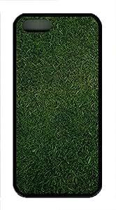 iPhone 5 5S Case Grass Background TPU Custom iPhone 5 5S Case Cover Black