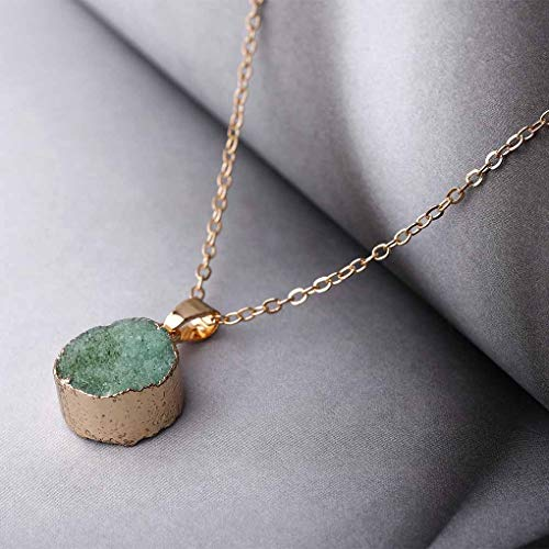 Fluorite Necklace Green - Fstrend Fashion Fluorite Necklace Green Dainty pendant Simple Necklace Jewelry for Women and Girls