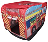 Fire Truck Indoor/Outdoor Play Tent by Clever Creations | Fire Truck Design Perfect for Fireman Themed Room Hideout for Kids | Simple, Fast Set up and Takedown | No Tools Needed | Creative Play Tent