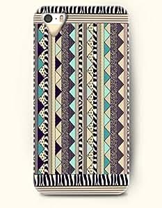 OOFIT Aztec Indian Chevron Zigzag Pattern Hard Case for Apple iPhone 4 4S Blue Symmetrical Aztec Pattern