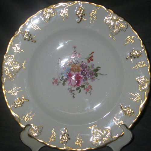 Royal Crown Derby Replacements (Royal Crown Derby Vine - Posie Center Dinner Plate)