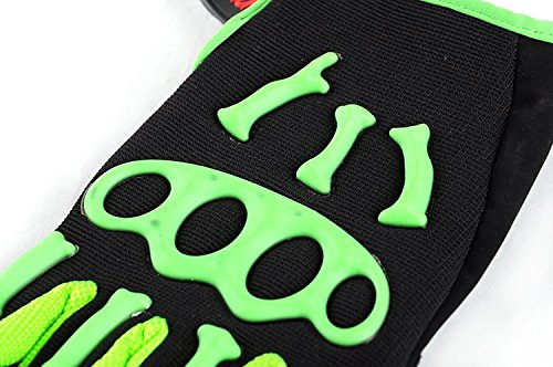 Kungken Cycling Racing Sport Mountain Bicycle Motorcycle Padded Ghost Skeleton Bone Gloves by Kungken (Image #3)