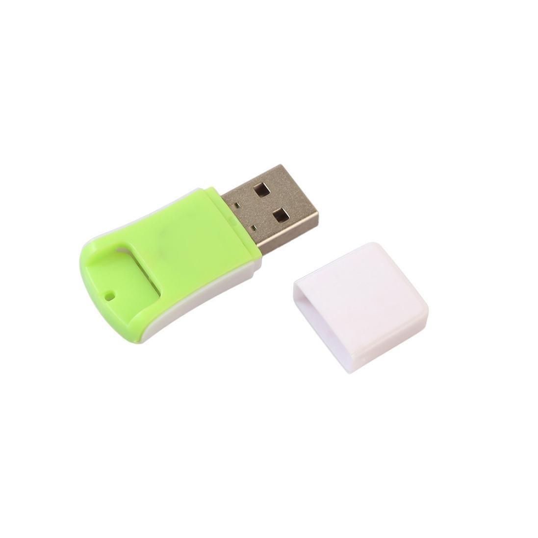 Dreamyth New Micro USB 2.0 Mini Card Reader Reader SD TF T-Flash High Speed Portable (green)