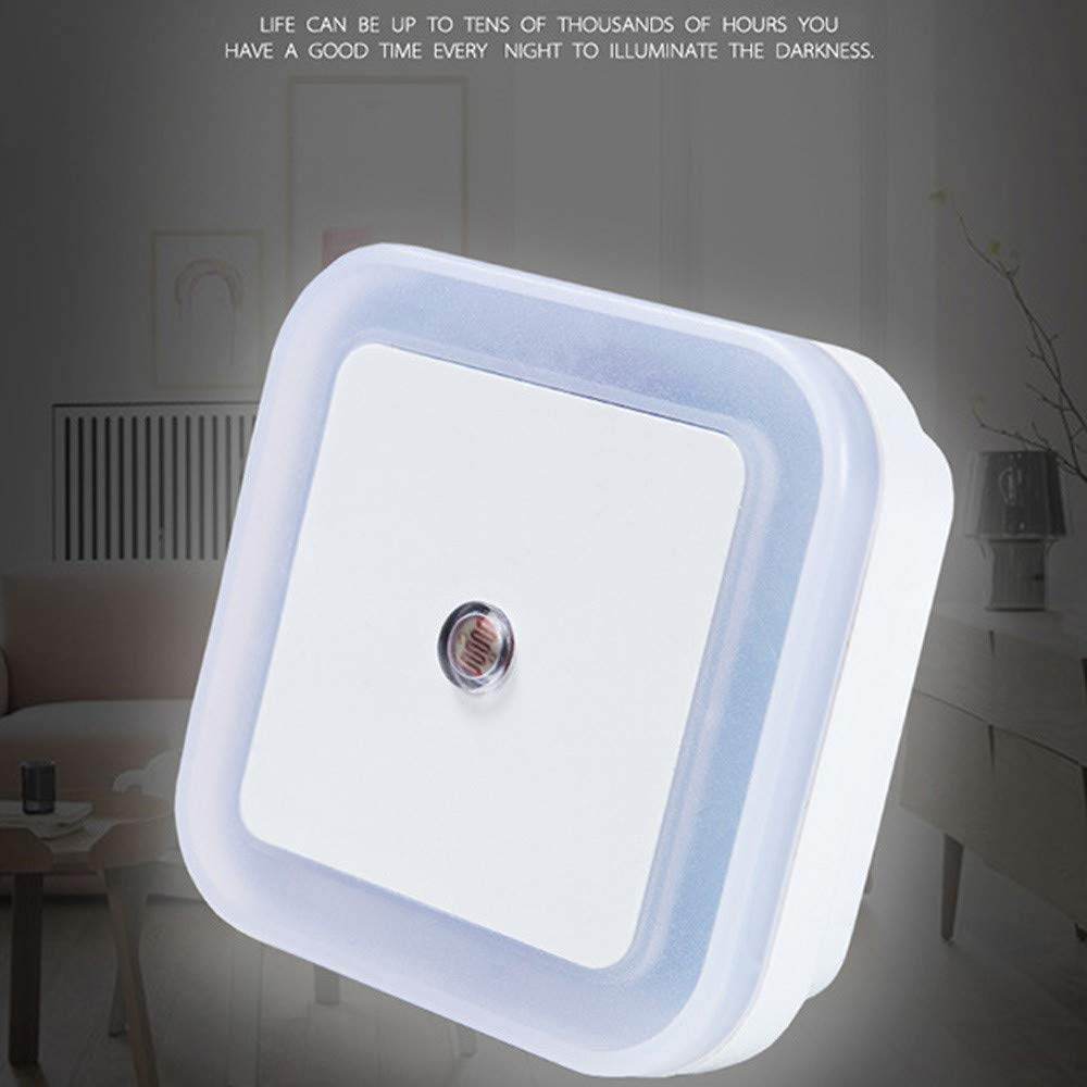 0.5W Plug-in Auto Sensor Control LED Night-Vovomay Light Lamp for Bedroom Hallway White