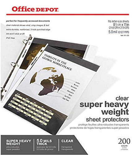 amazon-office-depot-top-loading-sheet-protectors-heavyweight-clear-pack-of-200-box
