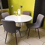 Juego de 4 sillas de comedor Coavas Fabric Cushion Sillas de cocina con patas de metal resistentes para comedor, gris