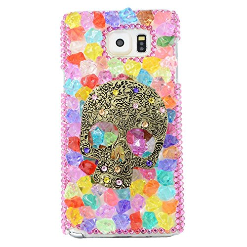 Spritech(TM) 3D Handmade Fashion Girl Woman Punk Skull Dceor Galaxy S6 Edge+ Case Luxury Colourful Candy Design Clear Hard Caver Case for Samsung Galaxy S6 Edge - Hard Candy Ipod Nano