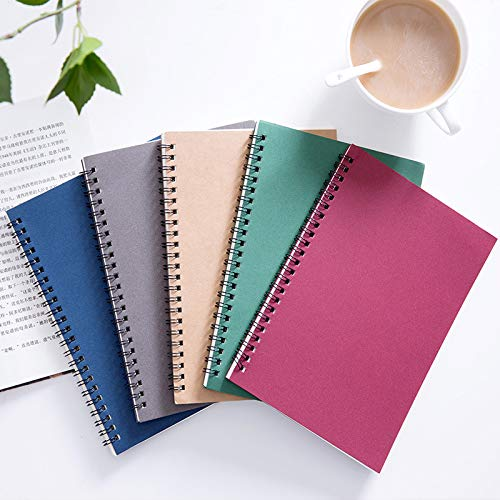 Rocutus 5pcs Colorful Spiral Notebook,Student Small Study Notebook Spiral Notebook,Office Simple Working Book,Diary Notebook,Suitable for schools,Offices,Household