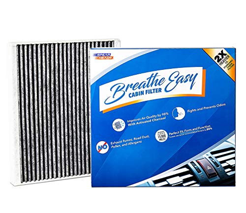 Spearhead Premium Breathe Easy Cabin Filter, Up to 25% Longer Life w/Activated Carbon (BE-728) (Best Rated Air Filters For Cars)