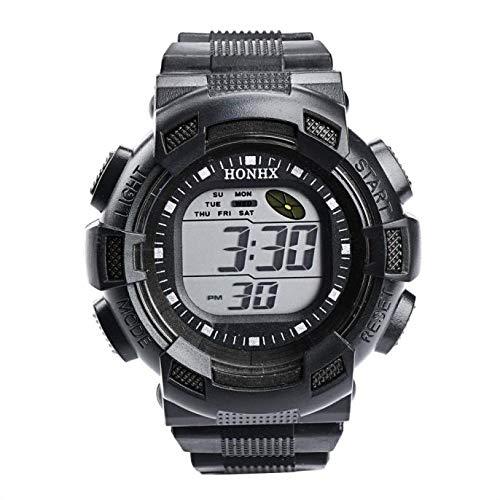 Cebbay Reloj Deportivo para Hombre LED Digital Resistente al Agua Correa de Goma Reloj Militar Casual