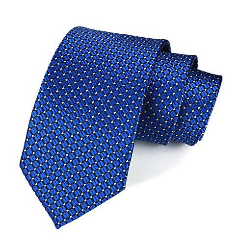 Men Royal Blue Neckties Vintage Silk Cravat Woven Leisure Fashion Designer brand Ties