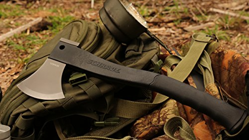 Schrade SCAXE2L 15.7in Large Survival Axe with 4.2in Stainless Steel Blade and Glass Fiber PA and TPR Rubber Handle for Outdoor Survival Camping and Everyday Tasks by Schrade (Image #2)