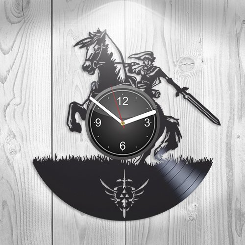 The Legend of Zelda Online Game Breath of the Wild Gift For Boyfriend Girlfriend Wall Art, New Handmade Vinyl Wall Clock Decor, Office Decoration For …