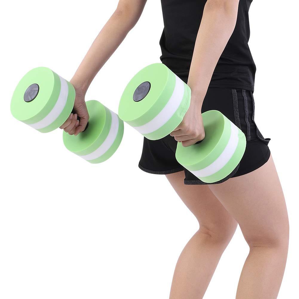 OKBY Pesa de Gimnasia - 1 par Agua Flotador Culturismo Entrenamiento Fitness Yoga Mancuerna con Barra, Espuma con Mancuernas (Color : Green): Amazon.es: ...