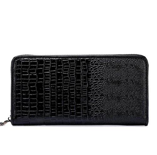 Herren Brieftasche Lange Brieftasche Brieftasche Europa Und Die Vereinigten Staaten Zipper Wallet Brown