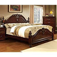 247SHOPATHOME Idf-7260Q Bed-Frames, Queen, Cherry