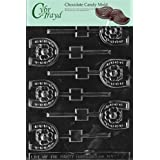 Cybrtrayd M075 Horseshoe Lolly Chocolate Candy Mold with Exclusive Copyrighted Molding Instructions
