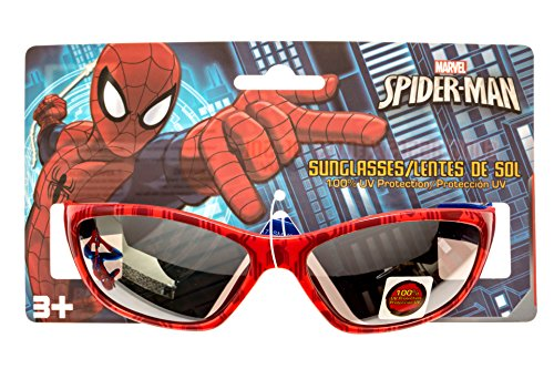 Marvel Spider-Man Kid's Sunglasses in Red and Blue 100% UV - Spiderman Sunglasses Kids