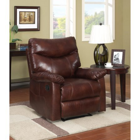 Chestnut Leather Recliner (Kingston Faux Leather)