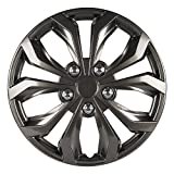 Automotive : Pilot WH555-16SB-B Universal Fit Spyder Gunmetal Grey 16 Inch Wheel Covers - Set of 4