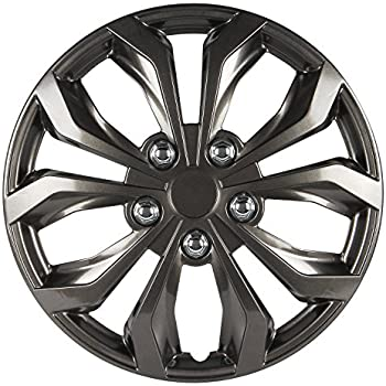 Pilot WH555-16GM-B Universal Fit Spyder Gunmetal Grey 16 Inch Wheel Covers - Set of 4