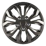 "Pilot Automotive WH555-16GM-B Performance 16"" Wheel Cover, Gunmetal Finish, (Pack of 4)"