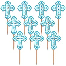 Party Pick Religious Blue Pack of 36