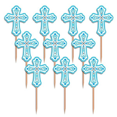 Amscan 400082 013051544928 Party Pick Religious Blue Pack of 36, As Shown]()