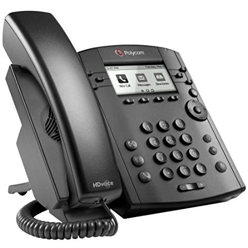 Polycom VVX 311 Corded Business Media Phone System - 6 Line PoE - 2200-48350-001 - AC Adapter (Included) by Polycom