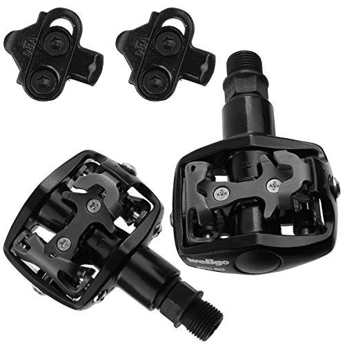 (Wellgo MTB Bike Pedals SPD Compatible WPD-823)