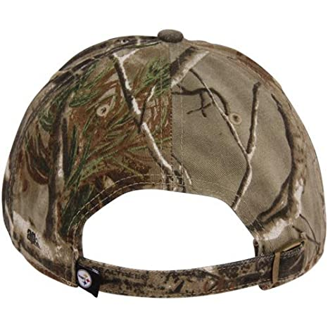 eefff3288527d8 Amazon.com : NFL '47 Brand Pittsburgh Steelers Clean Up Adjustable Hat - Realtree  Camo - : Baseball Caps : Clothing